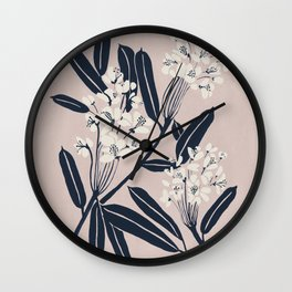Boho Botanica Wall Clock