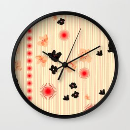 spotted blooms Wall Clock