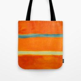 orange blue Tote Bag