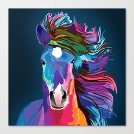 pop art horse Canvas Print