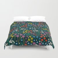 garden Duvet Covers featuring Botanical Garden  by Anna Deegan