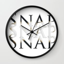 Snap Snap Snap Wall Clock