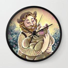 Bear Lumps Wall Clock