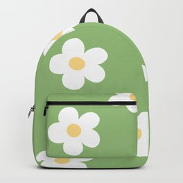 Retro 60's Flower Power Print Backpack