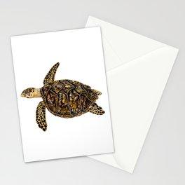 Hawksbill sea turtle (Eretmochelys imbricata) Stationery Cards