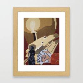 Flat Still Life Framed Art Print