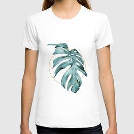MONSTERA LEAF GEOMETRIC T-shirt