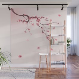 Oriental cherry blossom in spring 002 Wall Mural