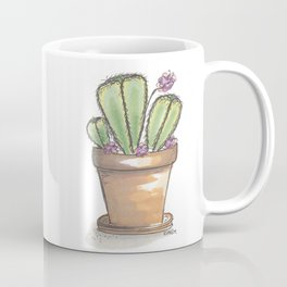 Potted Cactus Drawing Coffee Mug