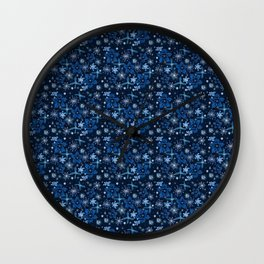 Celestial Night Garden Wall Clock