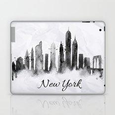 White New York Skyline Laptop & iPad Skin