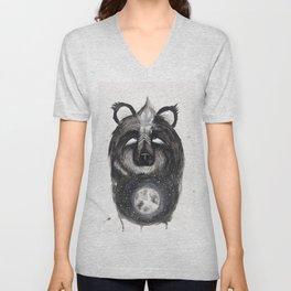 Selene the Moon Bear. Unisex V-Neck