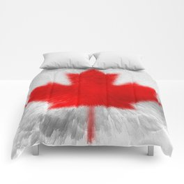 Extruded Flag of Canada Comforters