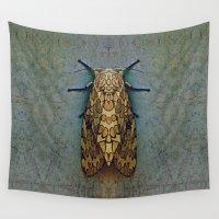 moth Wall Tapestries featuring Moth by Zandonai