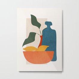 Minimalist Still Life Art Metal Print