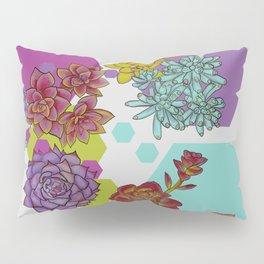 Succulents and Hexagons Pillow Sham