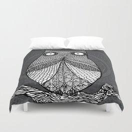 Doodle Owl Duvet Cover