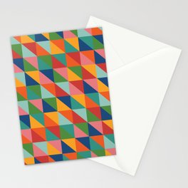 Bright geometric pattern Stationery Cards