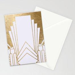 Art Deco design - blonde Stationery Cards