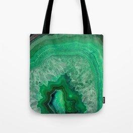 Green Emerald Agate Tote Bag