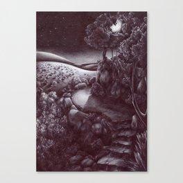 La luna sulla capitale Canvas Print