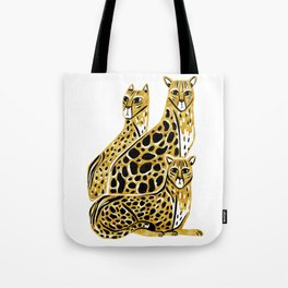 Gold Cheetahs Tote Bag