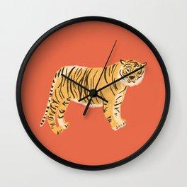 Red Tiger Wall Clock