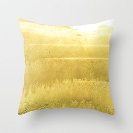 Sunny yellow abstract Throw Pillow
