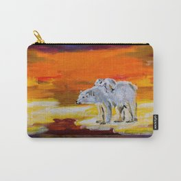 Polar Bears Surviving Carry-All Pouch