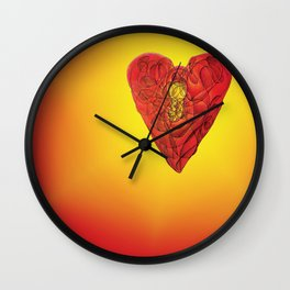 Heart Lock Abstract NeoNeoCubism Wall Clock