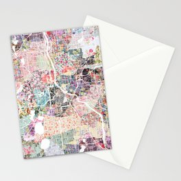 Minneapolis map - Landscape Stationery Cards