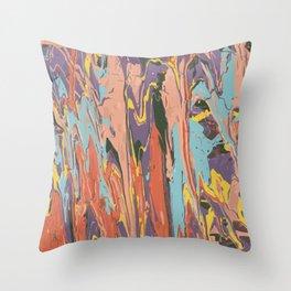 Baesic Primary Paint Drips Throw Pillow