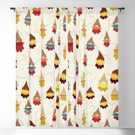 Gnome pattern 1d Blackout Curtain