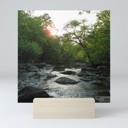 Watercolor Landscape Eno River 08, NC Mini Art Print