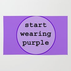 Start Wearing Purple Rug