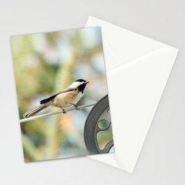 Chick on a line Stationery Cards
