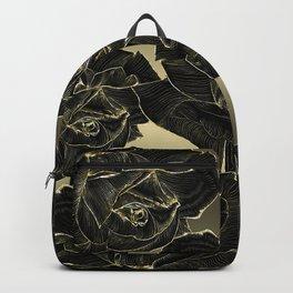 Black & Gold Roses Backpack