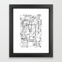 Conversation - b&w Framed Art Print