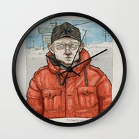 fargo Wall Clocks featuring Lester Nygaard… He'd hate for your pretty face to freeze…  by suPmön
