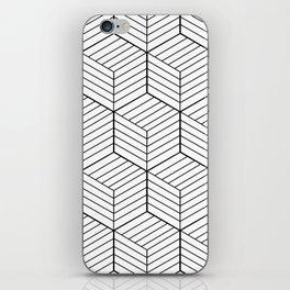 ZADA ((black on white)) iPhone Skin