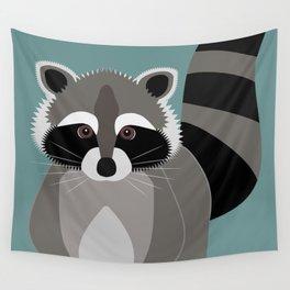Raccoon Rascal Wall Tapestry