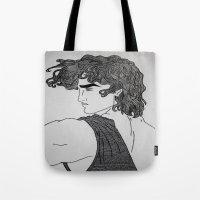 hercules Tote Bags featuring Hercules by lamya alghanem