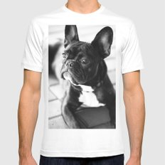 French Bulldog Mens Fitted Tee White 2X-LARGE