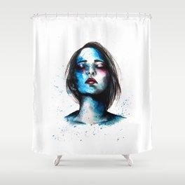 Sail // Fashion Illustration Shower Curtain