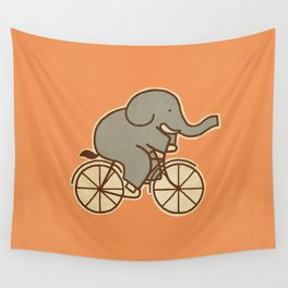Elephant Cycle Wall Tapestry