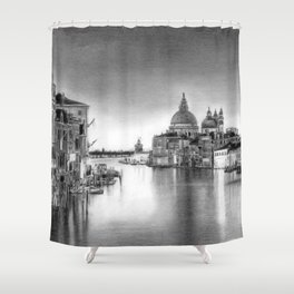 Venice Pencil Drawing Shower Curtain