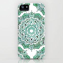 Emerald Mandala iPhone Case