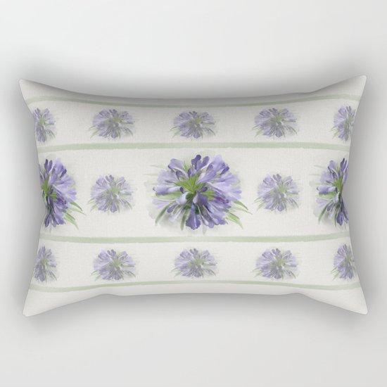 Blue purple flowers Rectangular Pillow