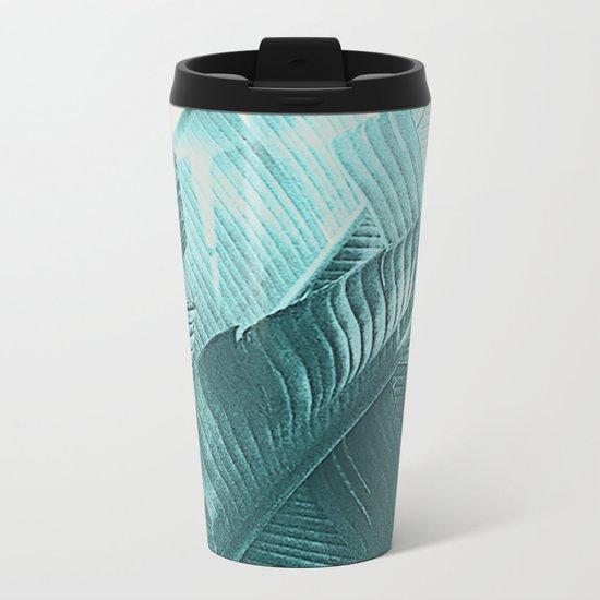 Banana Palm Metal Travel Mug