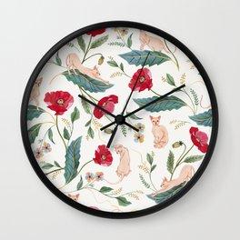 Ramona Poppy off-white Wall Clock
